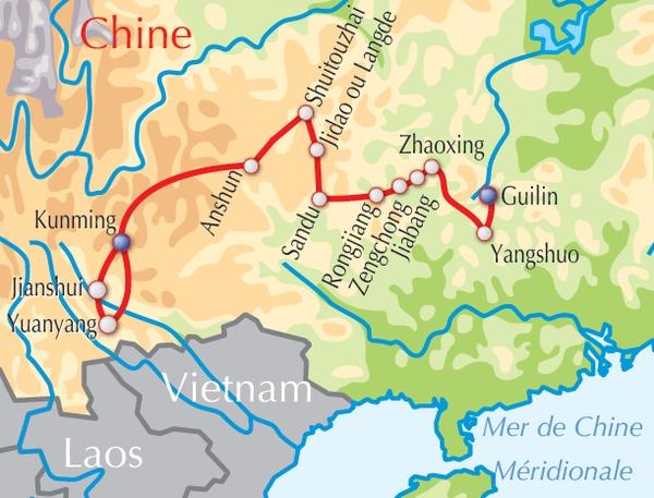 Carte Du Monde Yunnan.Voyage Aventure Decouverte Adeo Voyages Chine Yunnan