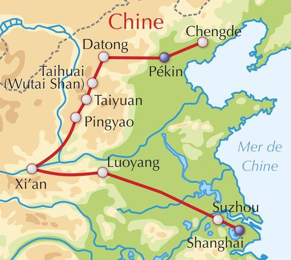 Carte Chine Pekin Shanghai.Voyage Aventure Decouverte Adeo Voyages Chine Shanxi