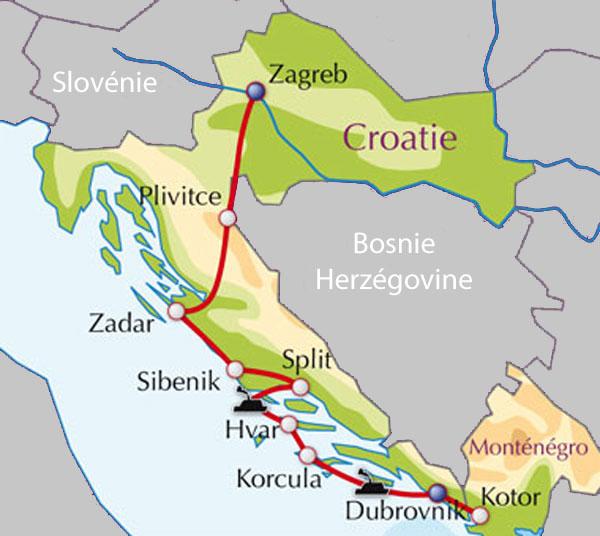 Carte Ancienne Croatie.Voyage Aventure Decouverte Adeo Voyages Croatie